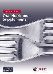 Clinical Audit | Oral Nutritional Supplements - Nualtra