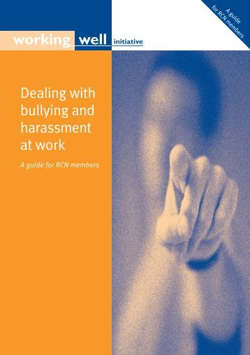 Dealing with bullying and harassment at work a ... - Health in Wales