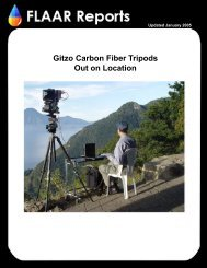 Gitzo Carbon Fiber Tripods Out on Location - Wide-format-printers.org