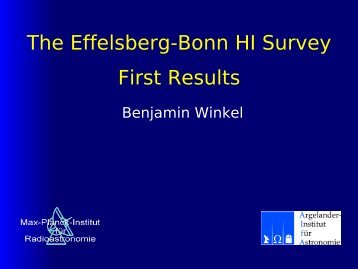 The Effelsberg-Bonn HI Survey First Results