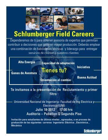 Schlumberger Field Careers - Facultad de Ingeniería Eléctrica y ...