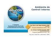 Ambiente de Control interno en un proyecto - PMI Capítulo Costa Rica