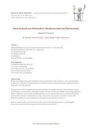 Zartes Goulasch vom Weidekalb an ... - Kochen ohne Alkohol