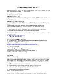 Protokoll der FS-Sitzung vom 20.6.11 - Institut für Sport und ...