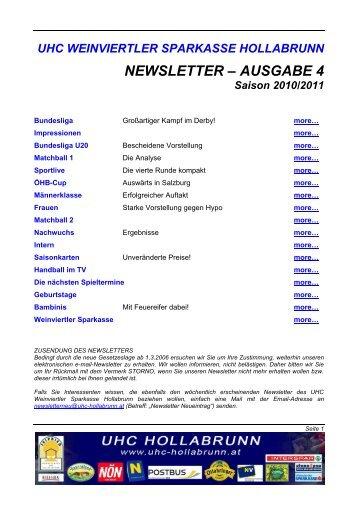 Newsletter 04 - UHC-Hollabrunn