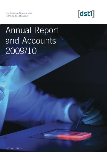 Annual Report and Accounts 2009/10 - Dstl
