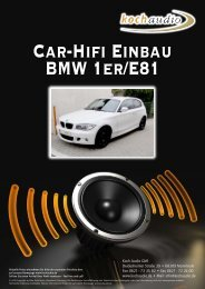 Car-Hifi Einbau – BMW E81 - Mike Koch Audio