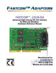 FASTCOM™: 232/8-ISA HARDWARE MANUAL - Commtech ...
