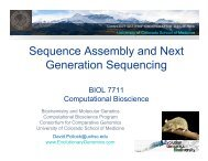 Sequence Assembly and Next Generation Sequencing - David Pollock