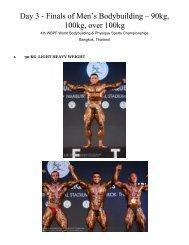 Day 3 - Finals of Men's Bodybuilding – 90kg, 100kg, over ... - ABBF