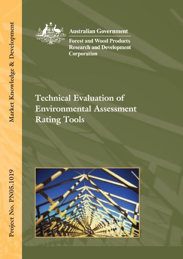Technical Evaluation of Environmental Assessment Rating Tools