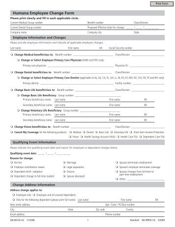 Employee Election/Change Form - Rschooltoday