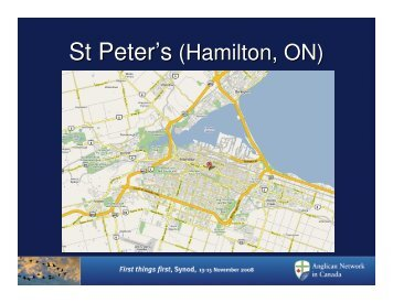 St Peter's (Hamilton, ON) - Anglican Network in Canada