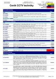 Ceník CCTV techniky - Eurosat CS