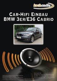 Car-Hifi Einbau – BMW E36 Cabrio - Mike Koch Audio