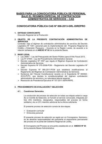 bases para la convocatoria pública de personal bajo el regimen ...