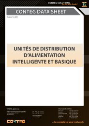 conteg data sheet unités de distribution d'alimentation intelligente et ...