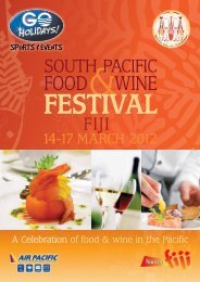 A Celebration of food & wine in the Pacific
