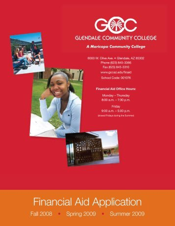 Financial Aid Application - glendale community college