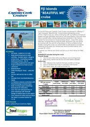 """Fiji Islands """"BEAUTIFUL ME"""" cruise"""