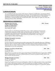view Mr. Paradis' resume - Institute for Health Care Studies (IHCS ...