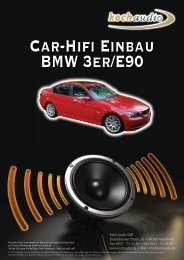 Car-Hifi Einbau – BMW E90 - Mike Koch Audio