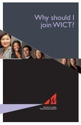 Download the WICT membership brochure.