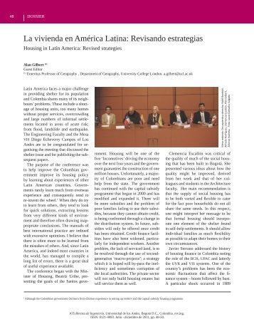 La vivienda en América Latina: Revisando estrategias - Revista de ...