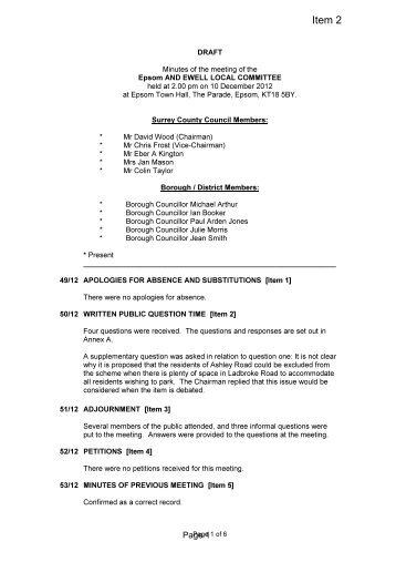 Minutes of the meeting of the south west surrey home education minutes of previous meeting pdf 42 kb surrey county council altavistaventures Images