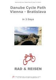 Vienna - Bratislava 3 Days 2012 - Bike Tours To Go