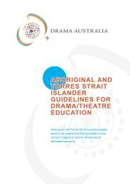 aboriginal and torres strait islander guidelines for ... - Drama Australia