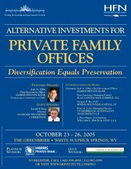 PRIVATE FAMILY OFFICES - ALM Events