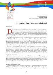 Lo spirito di san Vincenzo de Paoli