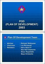 POD (PLAN OF DEVELOPMENT) - CCOP