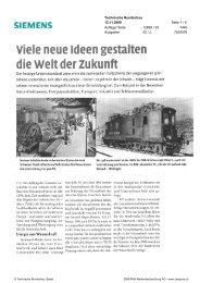 Viele neue Ideen gestaiten - Siemens Schweiz AG