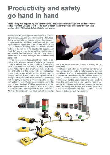 Productivity and safety go hand in hand - Jokab Safety