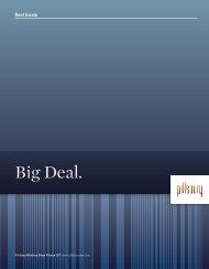 Real Estate Big Deal Brochure - Pillsbury Winthrop Shaw Pittman LLP