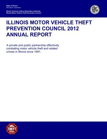 View the Motor Vehicle Theft Prevention Council 2012 Annual Report