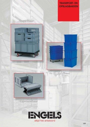 Kunststof transportbakken en koffers - Engels Logistics