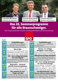 Sommerprogramm 2012 - Klaus-Peter Bachmann