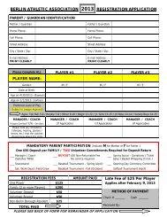 AA Registration Form