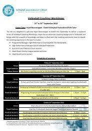 Volleyball Coaching Workshops - Cork Sports Partnership