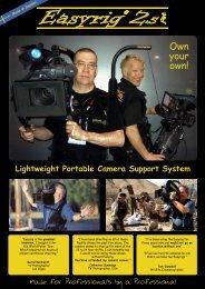 Lightweight Portable Camera Support System - EasyRig