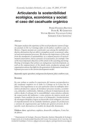Articulando la sostenibilidad ecológica, económica y social: el caso ...
