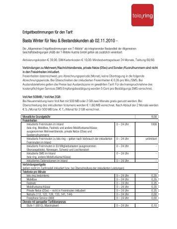 Basta Winter 02.11.- 18.11.2010 (für Neu-und - tele.ring