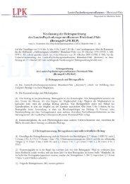 Beitragsordnung - Landespsychotherapeutenkammer Rheinland-Pfalz
