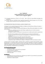 Avis Ecole de l'Air - Commission des Titres d'Ingénieur