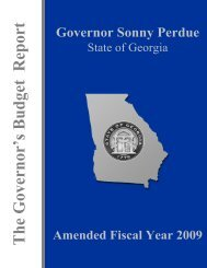 State of Georgia Budget AFY.book - Governor's Office of Planning ...