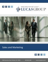 Sales and Marketing - Lucas Group