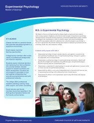 Experimental Psychology - College of Arts and Sciences - Nova ...